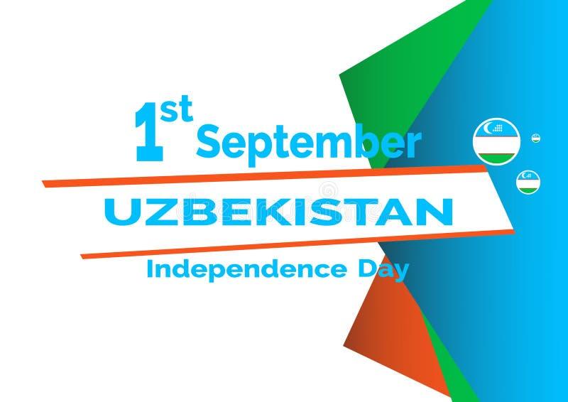Fondo de la bandera de Uzbekistán del Día de la Independencia Ilustración EPS 10 del vector stock de ilustración