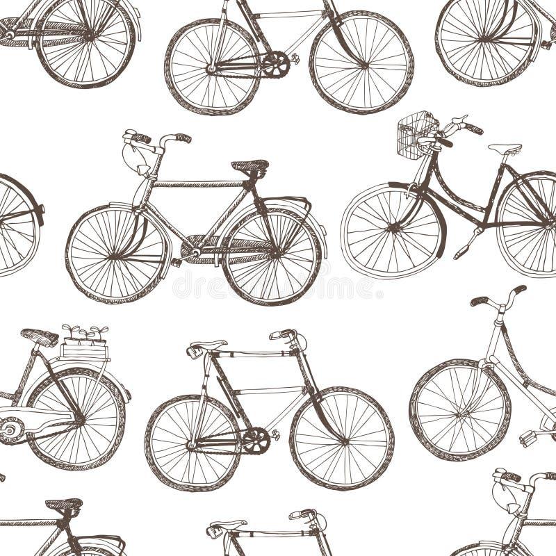 Fondo de la bicicleta del vintage libre illustration