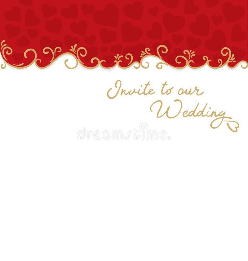 Fondo de la boda ilustración del vector