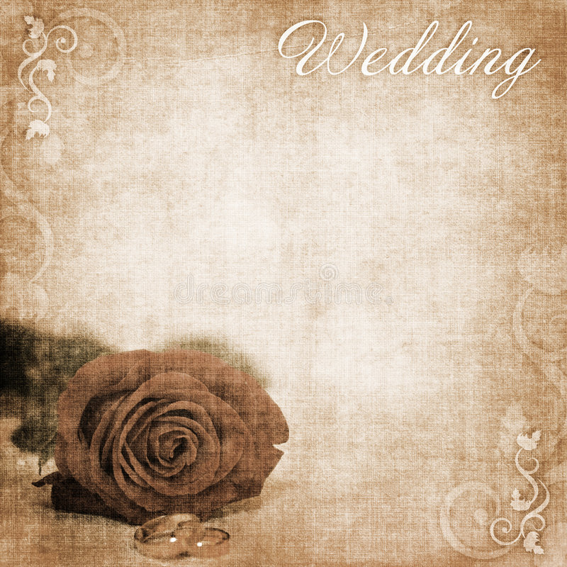 Fondo de la boda stock de ilustración