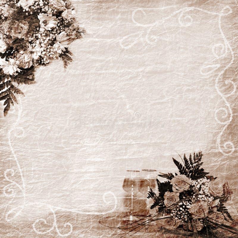 Fondo de la boda, del día de fiesta o del aniversario stock de ilustración