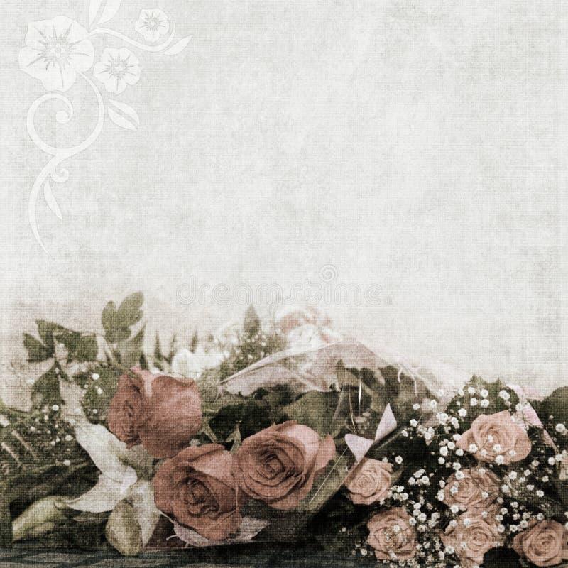 Fondo de la boda, del día de fiesta o del aniversario ilustración del vector