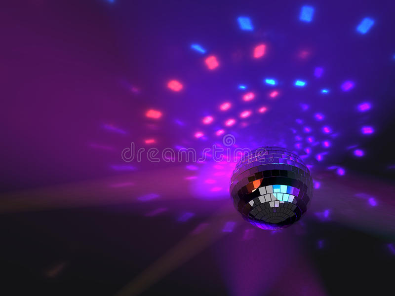Fondo de la bola de espejo del partido de disco libre illustration