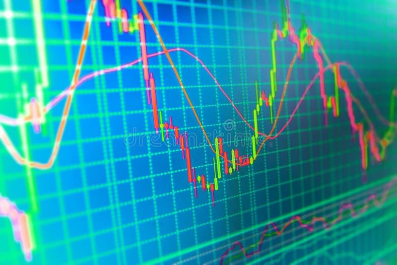 Fondo de la bolsa de acción de las finanzas stock de ilustración