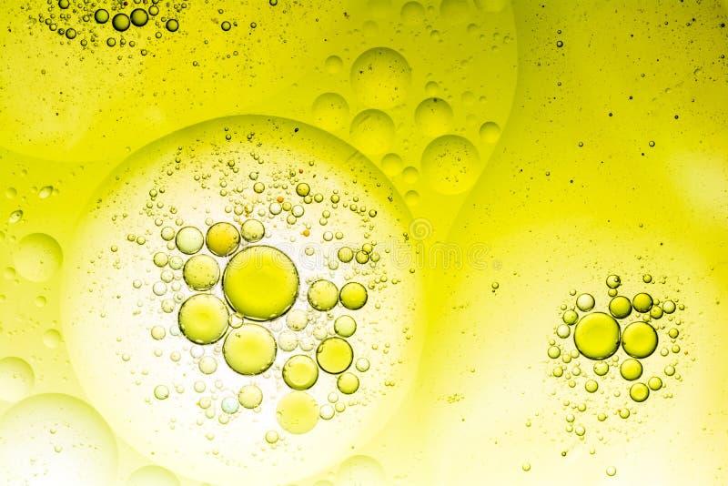 Fondo de la burbuja del agua y del aceite foto de archivo libre de regalías