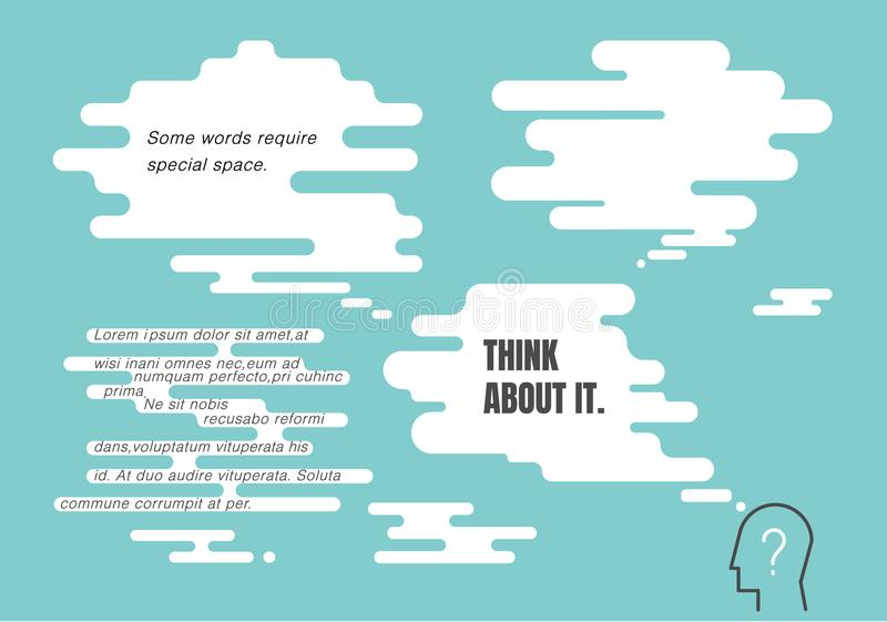Fondo de la burbuja del discurso del vector con el espacio del texto libre illustration