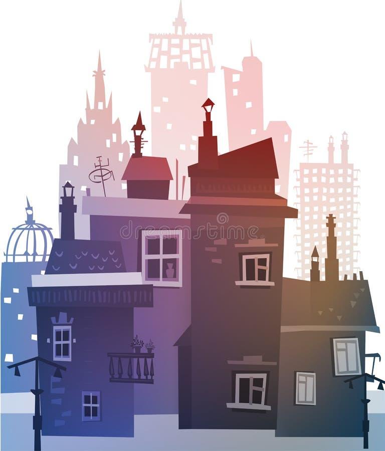 Fondo de la calle de la ciudad ilustración del vector