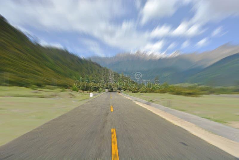 Fondo de la carretera con curvas fotos de archivo libres de regalías