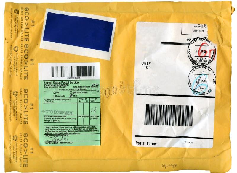 Fondo de la cartulina del sobre fotografía de archivo libre de regalías