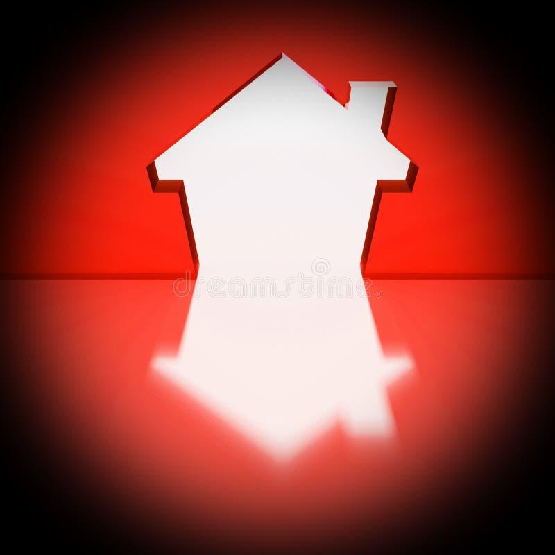 Fondo de la casa ilustración del vector