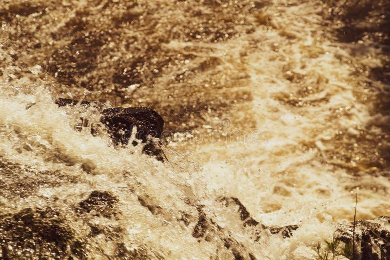 Fondo de la cascada. . Rocky Flowing River imagenes de archivo