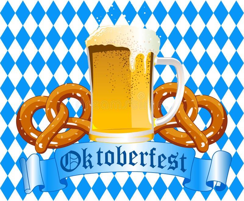 Fondo de la celebración de Oktoberfest ilustración del vector