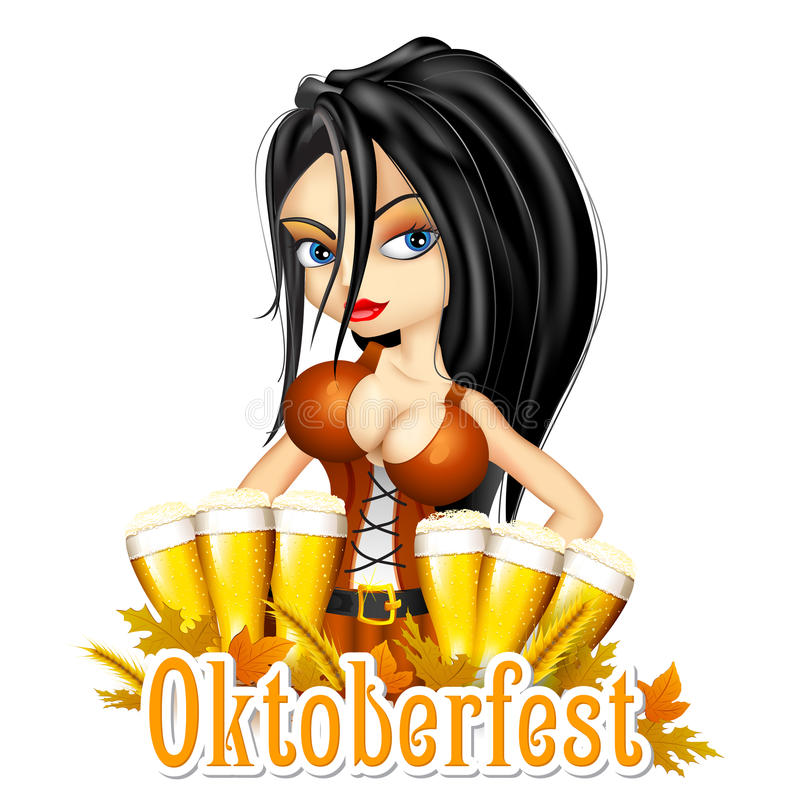 Fondo de la celebración de Oktoberfest libre illustration
