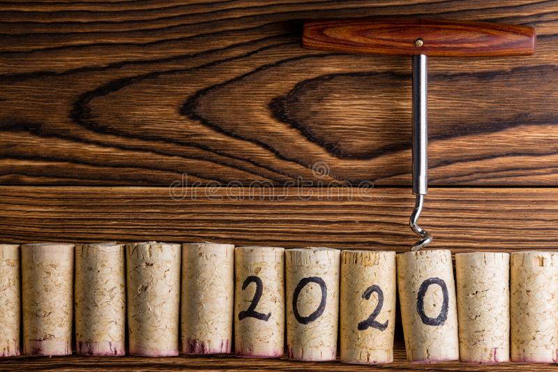 Fondo de la celebración del Año Nuevo 2020 imágenes de archivo libres de regalías