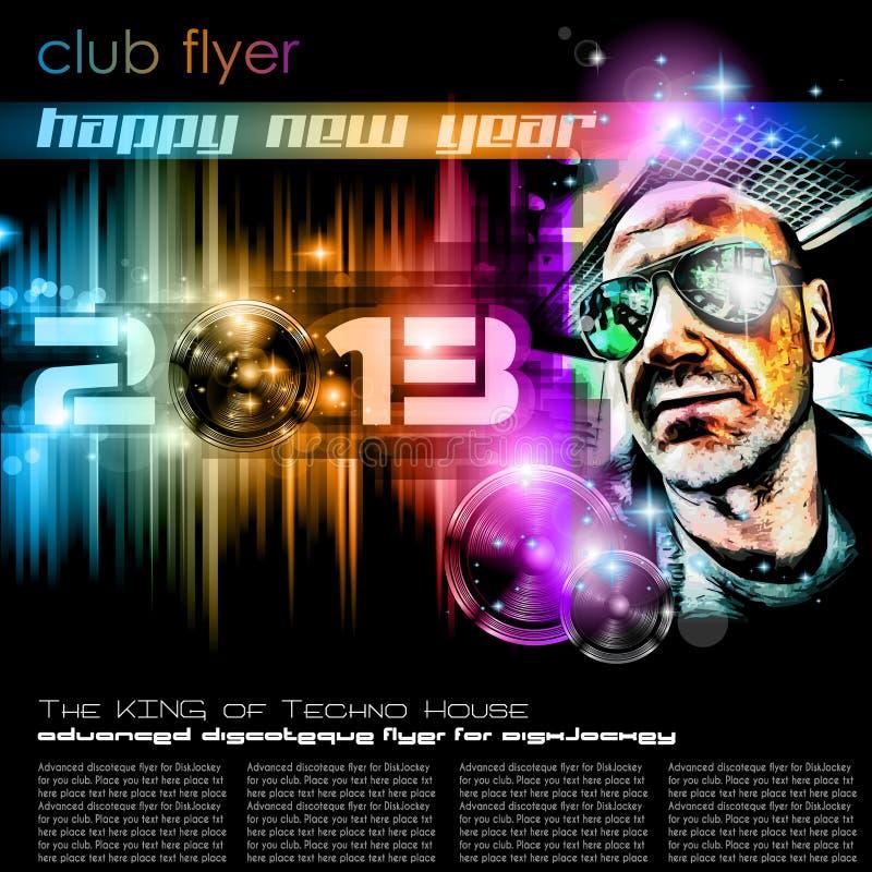 Fondo de la celebración del Año Nuevo 2013 ilustración del vector