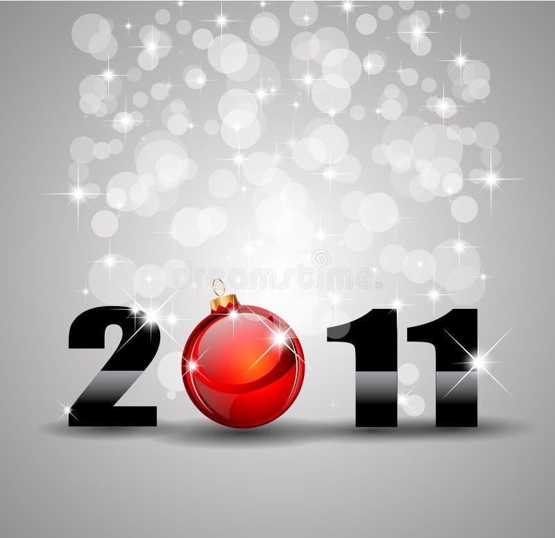 Fondo de la celebración del Año Nuevo con brillo libre illustration