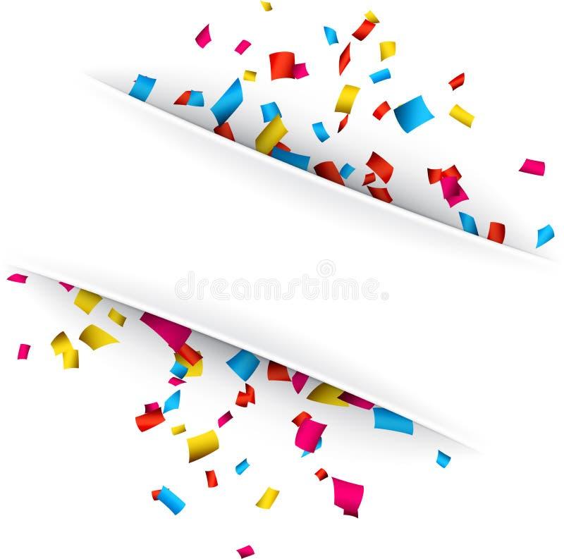 Fondo de la celebración del confeti stock de ilustración