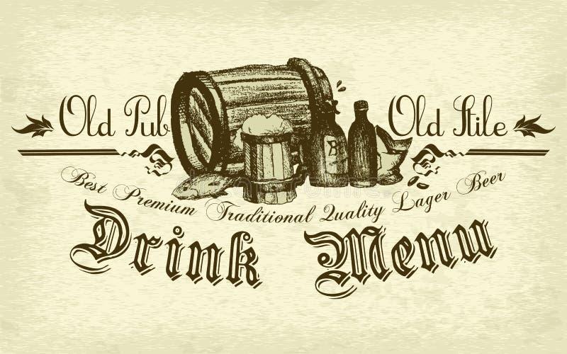 Fondo de la cerveza stock de ilustración
