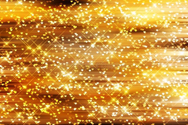 Fondo de la chispa del oro imagen de archivo libre de regalías