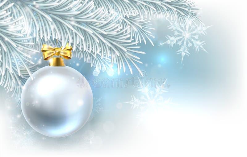 Fondo de la chuchería del árbol de navidad stock de ilustración