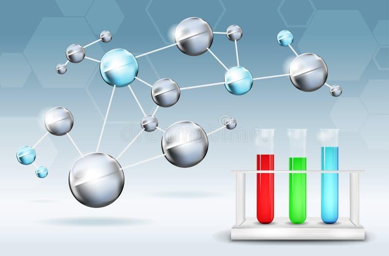 Fondo de la ciencia abstracta stock de ilustración