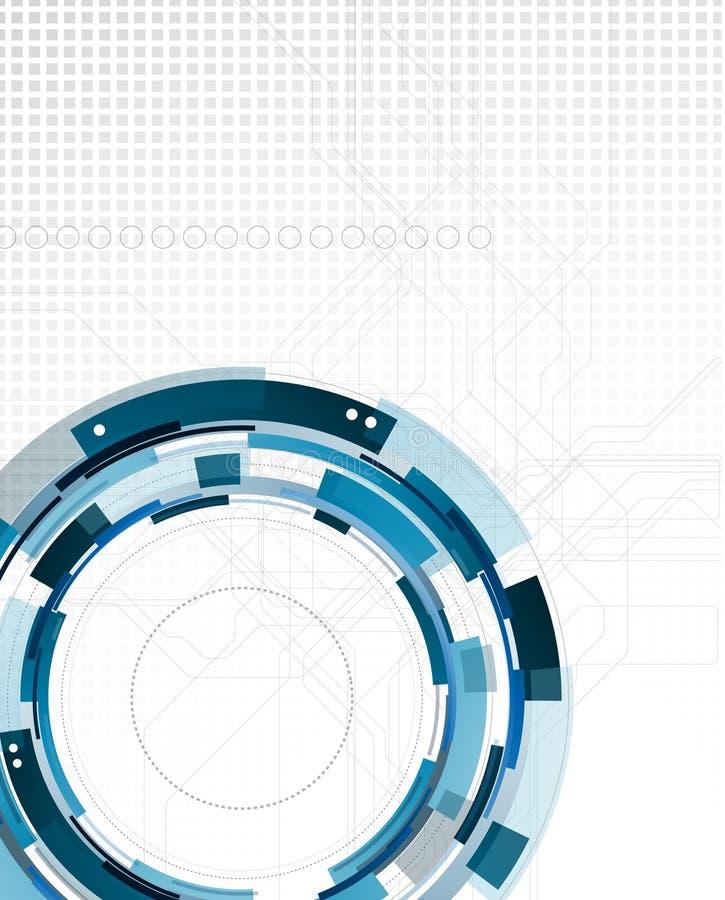 Fondo de la ciencia abstracta y de la tecnología stock de ilustración