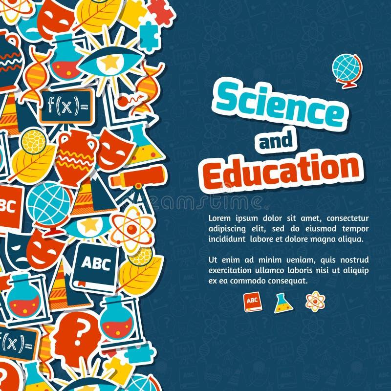 Fondo de la ciencia de la educación libre illustration