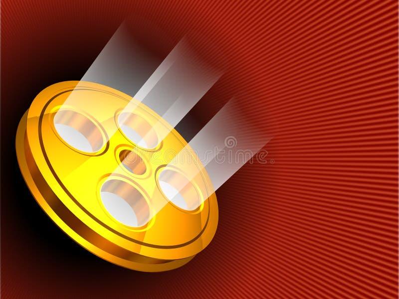 Fondo de la cinta de la película ilustración del vector