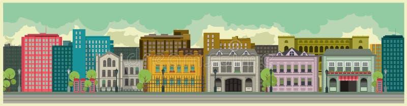 Fondo de la ciudad libre illustration
