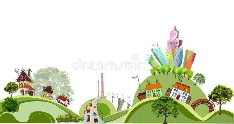 Fondo de la ciudad, colección de la ciudad ilustración del vector