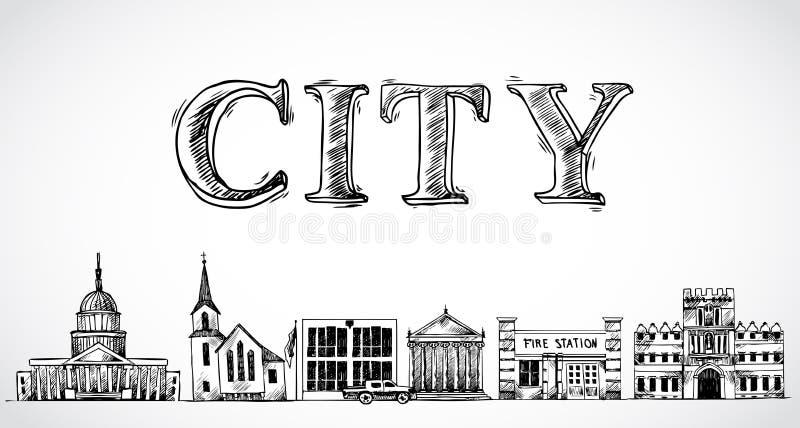 Fondo de la ciudad de la ciudad libre illustration