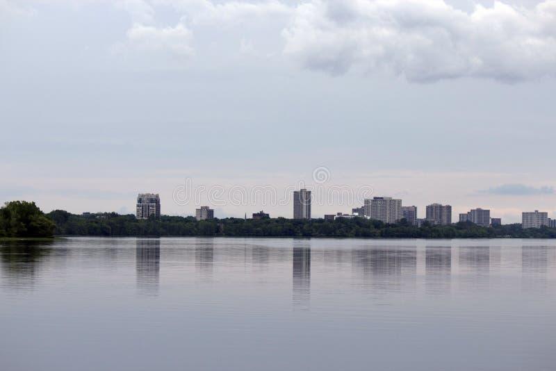 Fondo de la ciudad de Ottawa en Camada fotos de archivo
