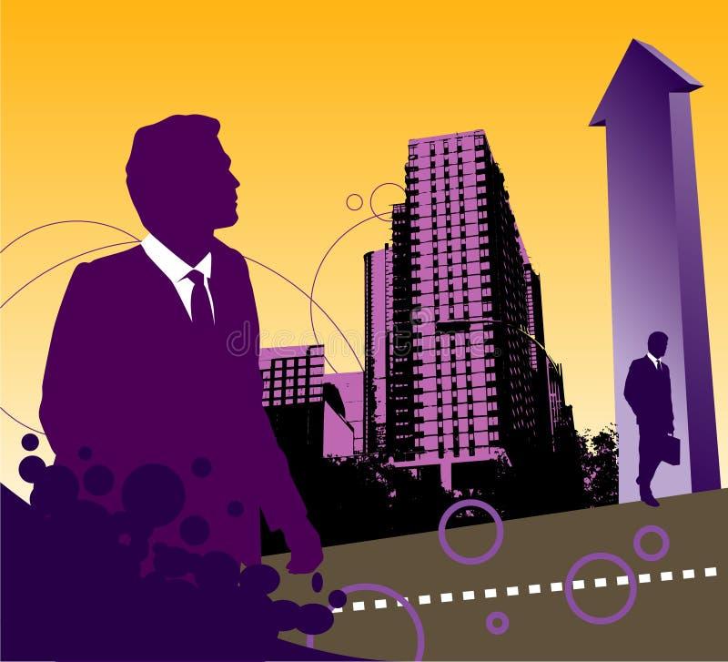 Fondo de la ciudad del asunto stock de ilustración