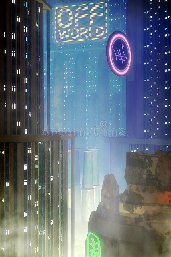 Download Fondo De La Ciudad Del Cyberpunk Stock de ilustración - Ilustración de tierra, ilustraciones: 41915102