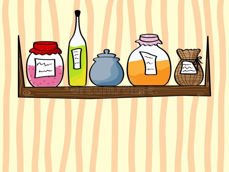 Fondo de la cocina libre illustration