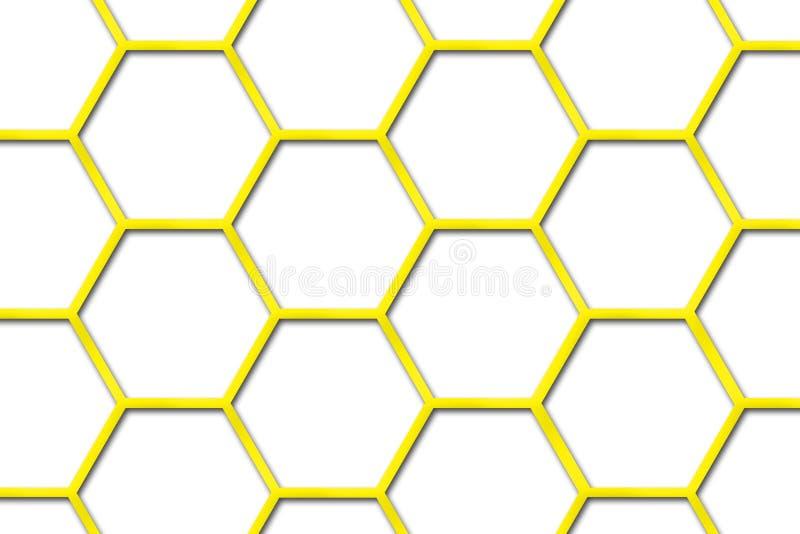 Fondo de la colmena de la abeja ilustración del vector