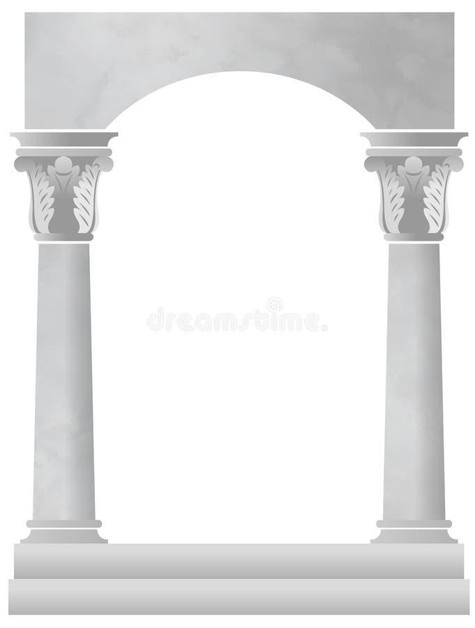 Fondo de la columna de mármol ilustración del vector