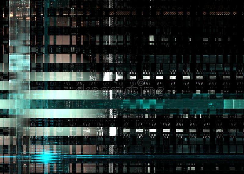Fondo de la computaci?n de Quantum, tarjeta de circuitos electr?nicos libre illustration