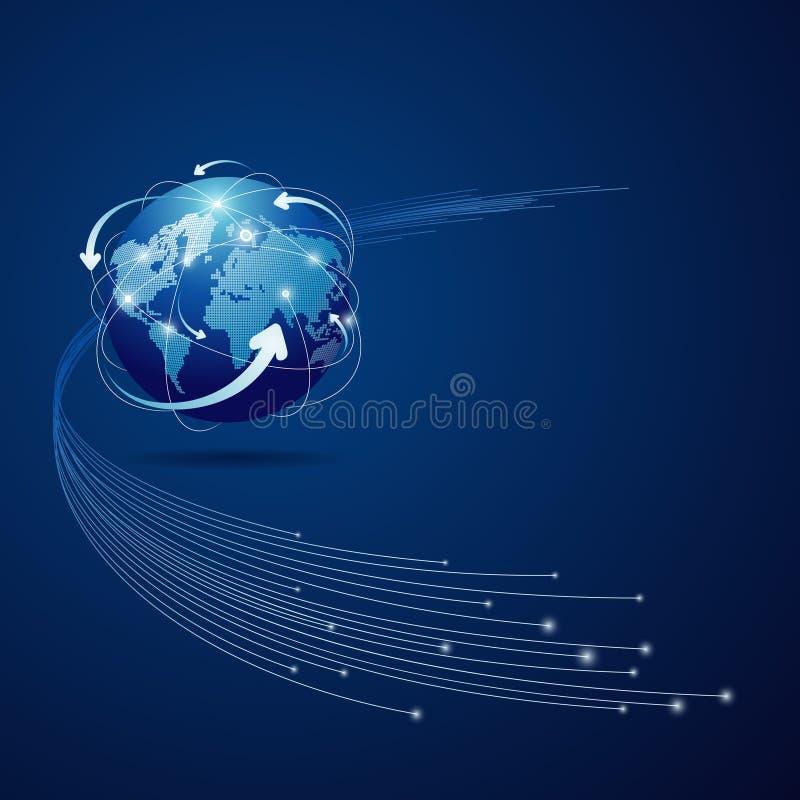 Fondo de la conexión de red del globo libre illustration