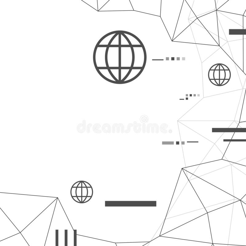 Fondo de la conexión del polígono, concepto de la señal de Internet de la comunicación de la red global libre illustration