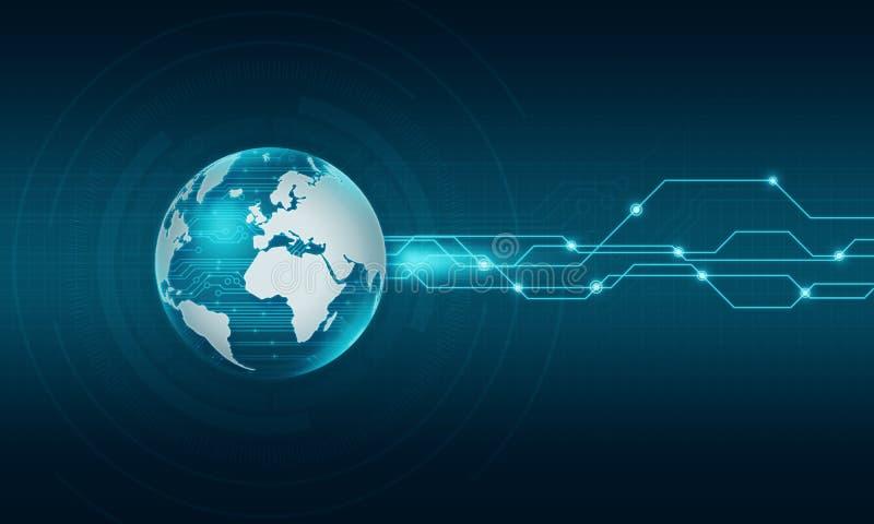 Fondo de la conexión a internet de la tecnología del mundo libre illustration
