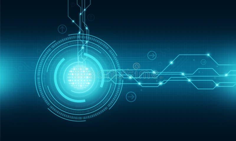Fondo de la conexión a internet de la tecnología del mundo stock de ilustración