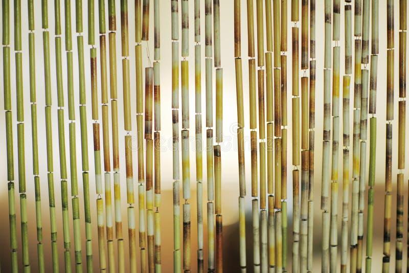 Fondo de la cortina de bambú imágenes de archivo libres de regalías