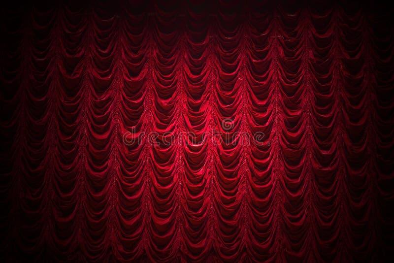 Fondo de la cortina del teatro foto de archivo libre de regalías