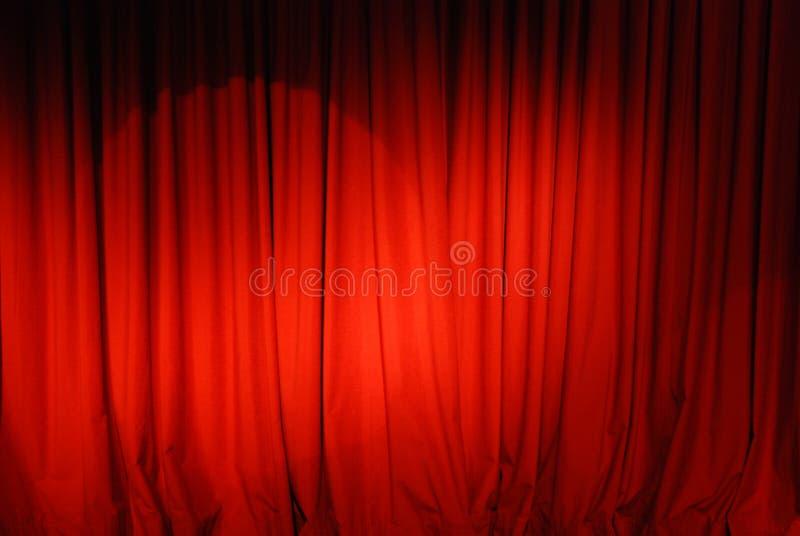 Fondo de la cortina del teatro imagen de archivo