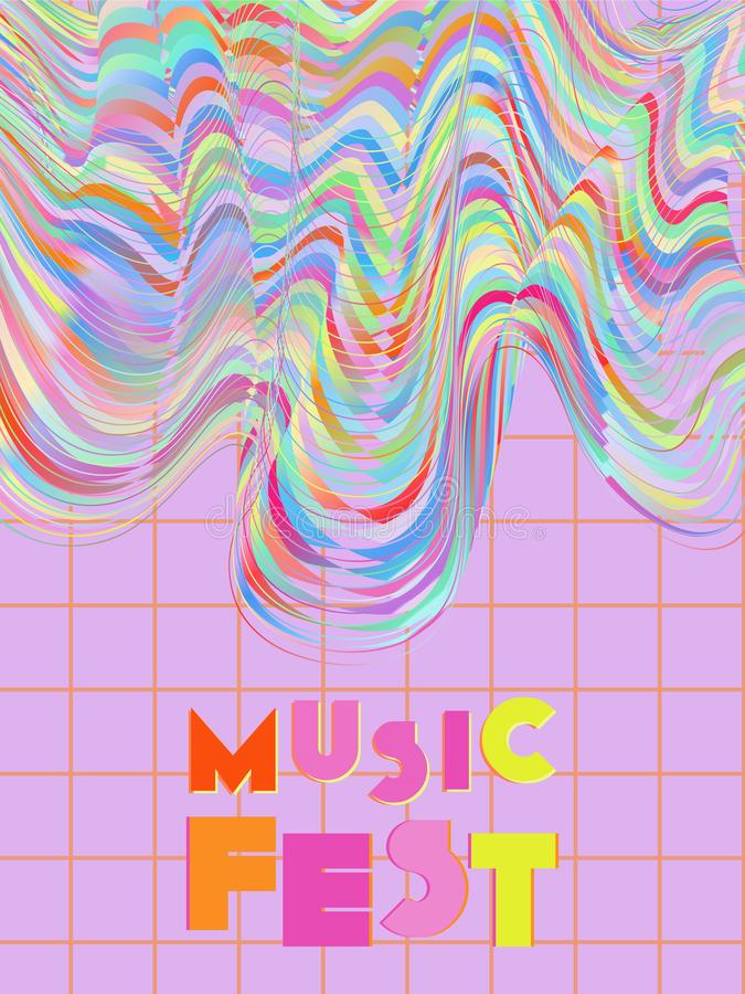 Fondo de la cubierta del festival de música ilustración del vector