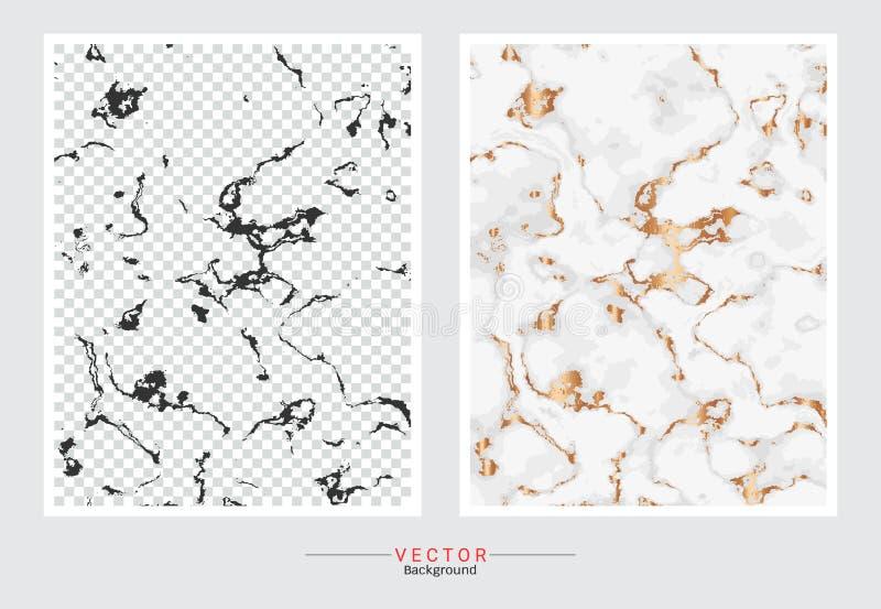 Fondo de la cubierta del mármol del oro, plantilla determinada del vector libre illustration