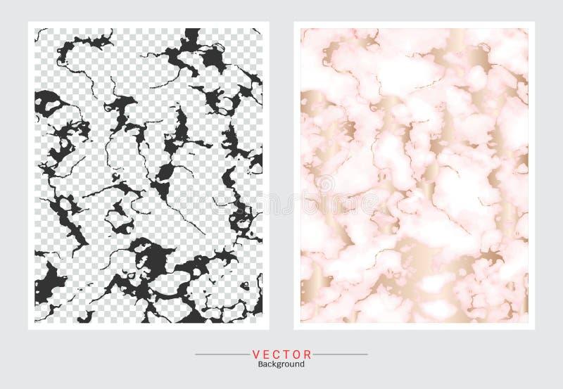 Fondo de la cubierta del mármol del oro, plantilla determinada del vector ilustración del vector