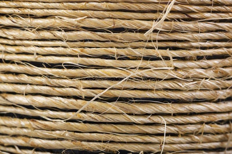 Fondo de la cuerda del cáñamo fotos de archivo libres de regalías