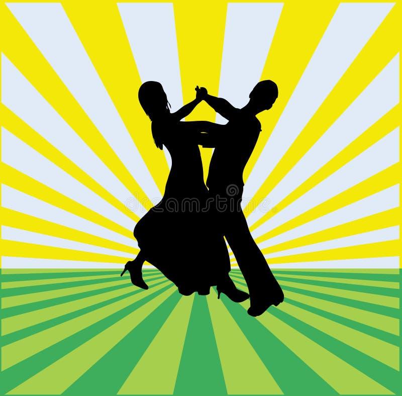 Fondo de la danza de salón de baile stock de ilustración